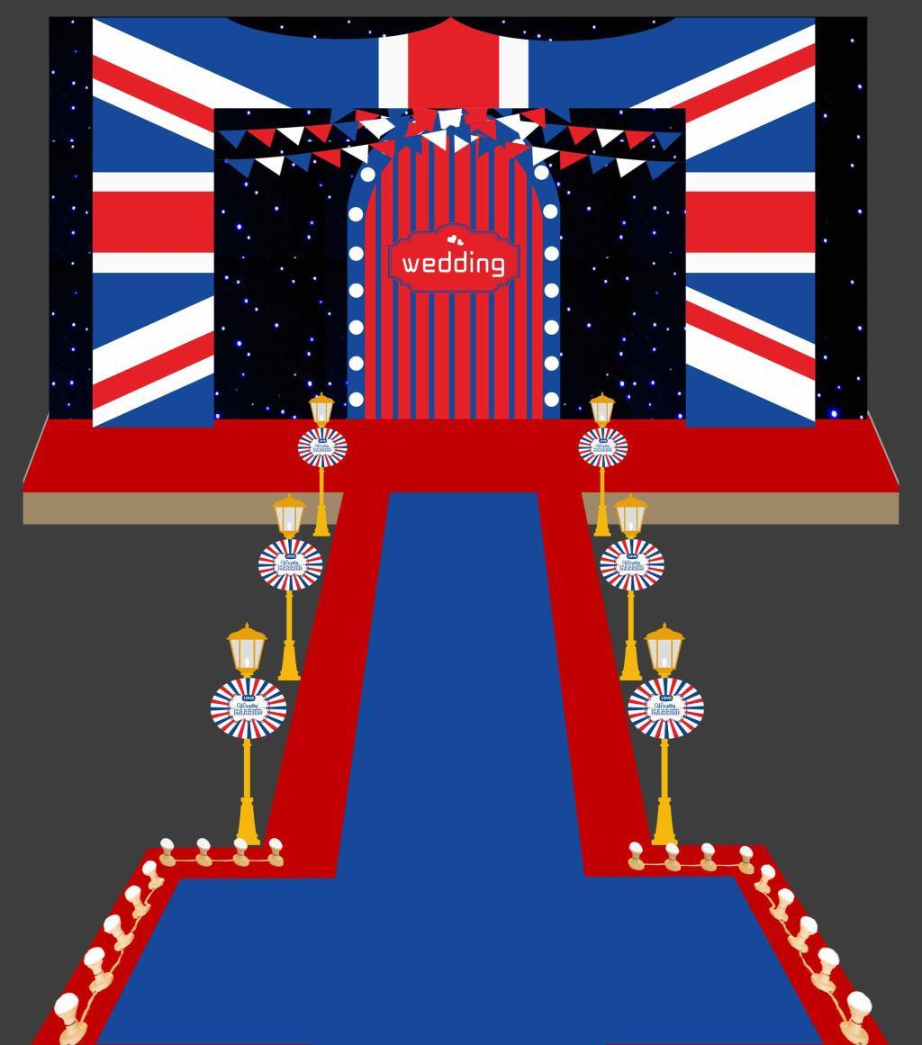 国外婚礼舞台设计效果图
