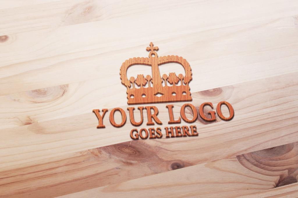 立体木纹浮雕logo样板