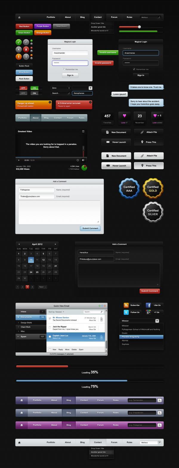 网页导航按钮素材