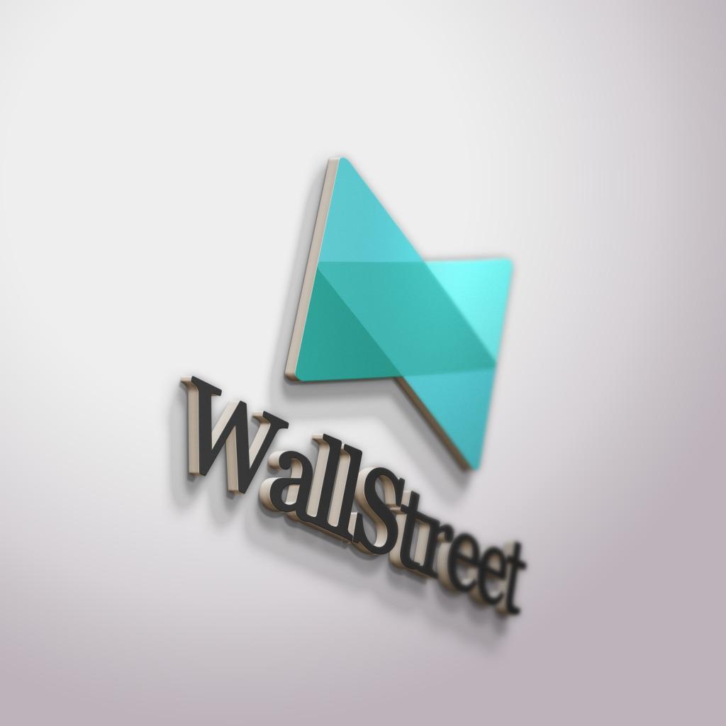 蓝色几何logo样板