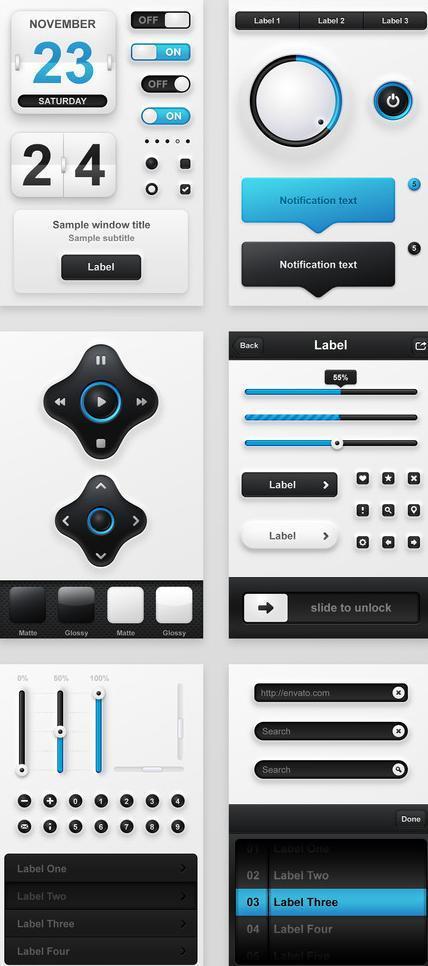 网页按钮素材模板