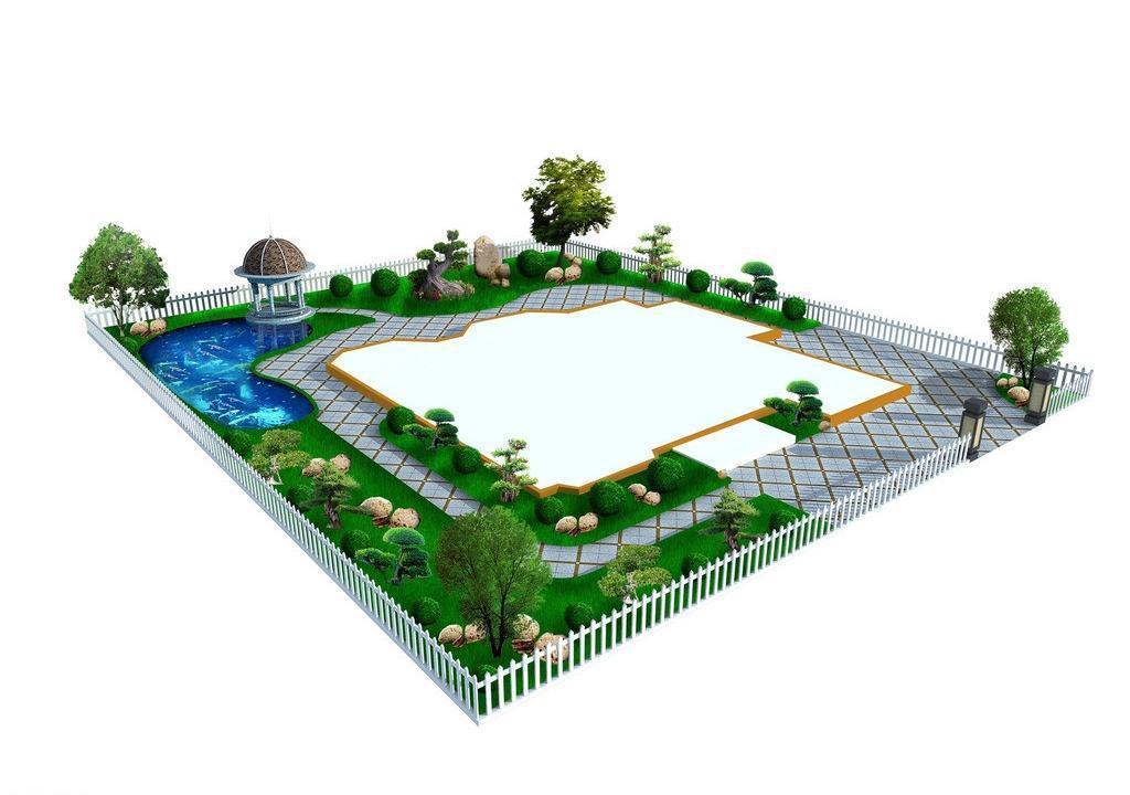 别墅园林效果图模板