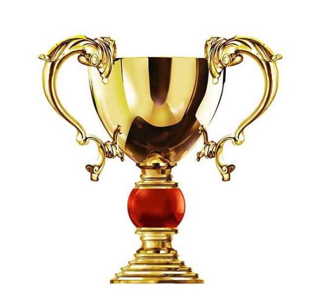 金色荣誉奖杯