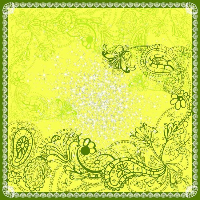 黄色花卉边框