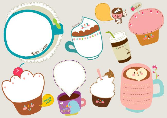 咖啡和蛋糕对话框