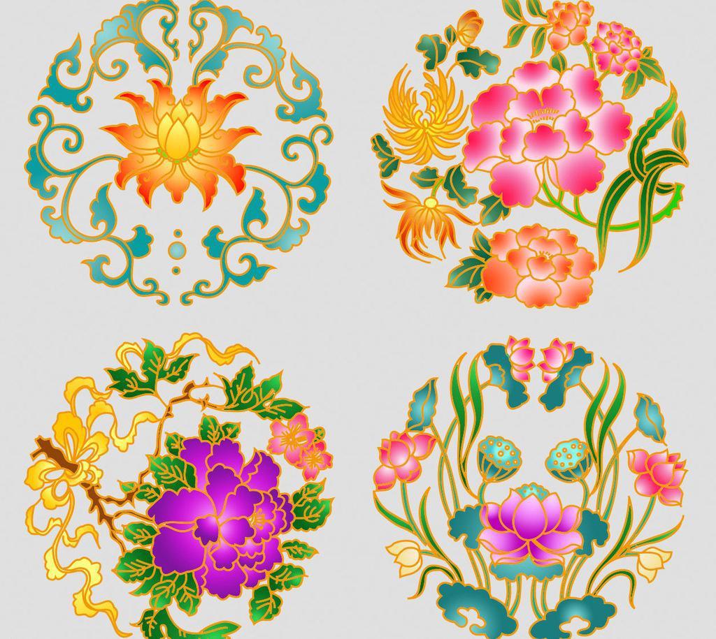 中国风花纹pad素材