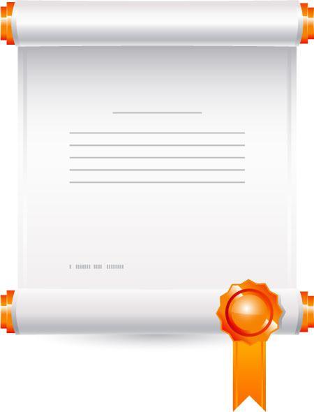 文件奖状卷轴