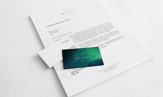 信纸名片VI设计