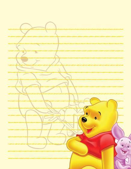 维尼熊卡通信纸