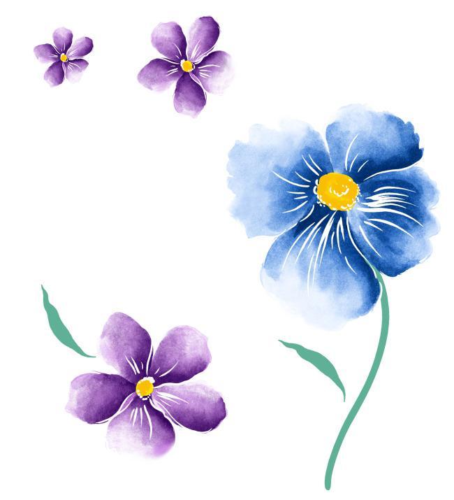 手绘花朵装饰素材