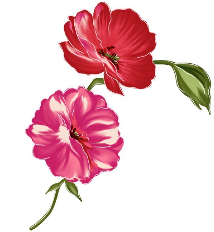 手绘唯美卡通花朵