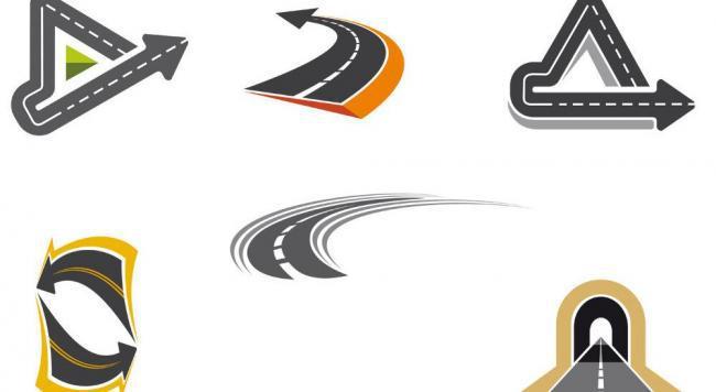 道路设计logo素材