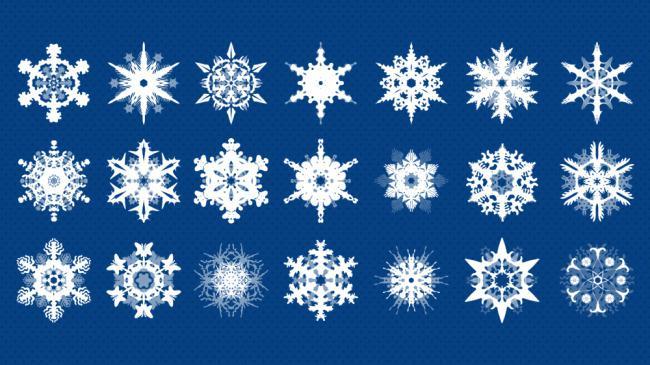 圣诞节雪花分层素材