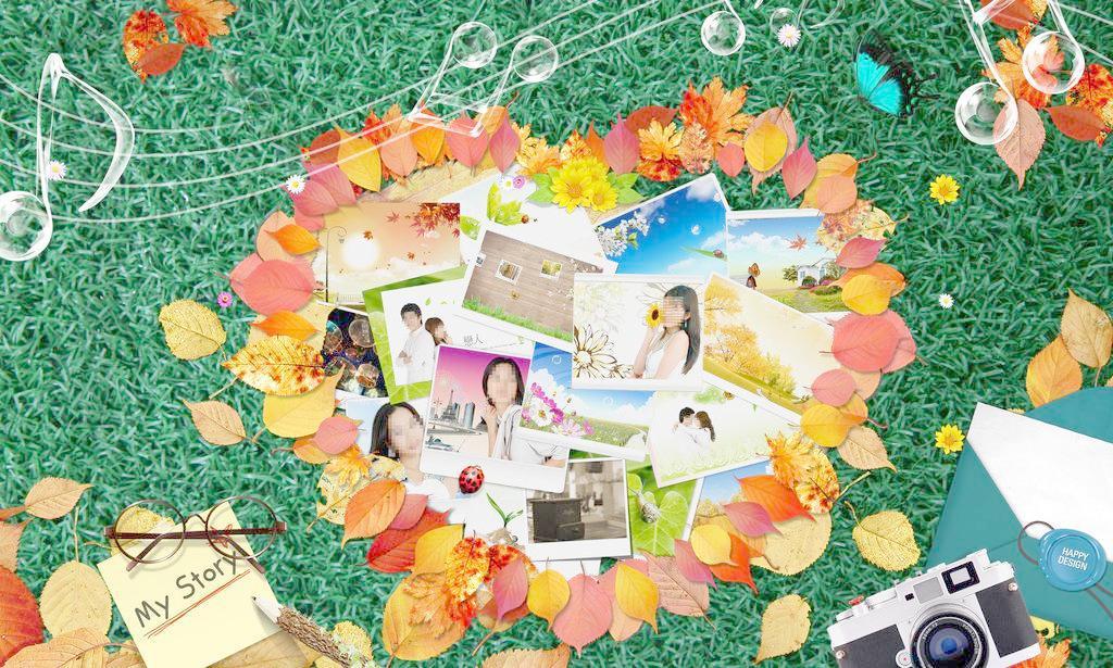 浪漫枫叶边框图片