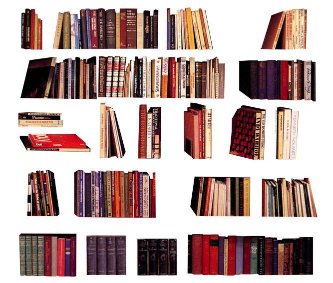 排列图书psd素材